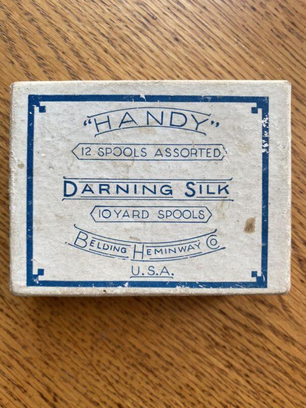 Vintage darning silk spools