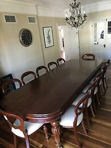 Antique Dining table & 12 Chairs Ascot Brisbane North East Preview