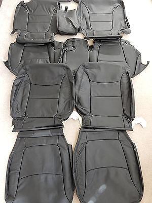 2014 2015 Kia Sorento Lx Oem Factory Leather Seat Covers  Black