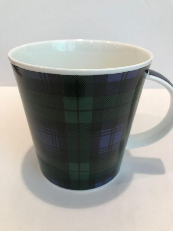 DUNOON Black Watch Tartan Plaid Coffee Tea mug cup Fine Bone China