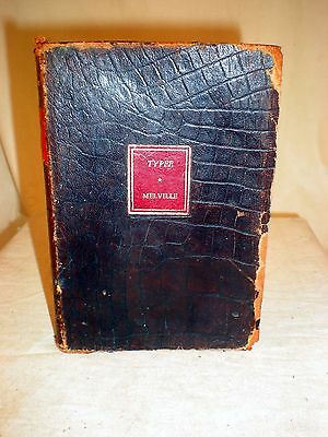 Typee, 1932, Herman Melville, soft faux leather cover, Walter J. Black publisher
