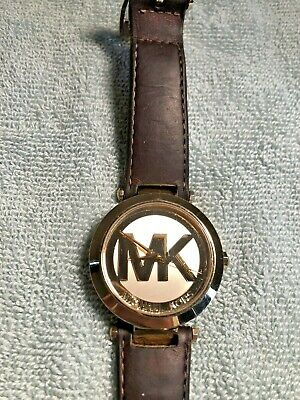 Michael Kors Ladies Authentic Gold Runway Logo Watch 39mm MK2398