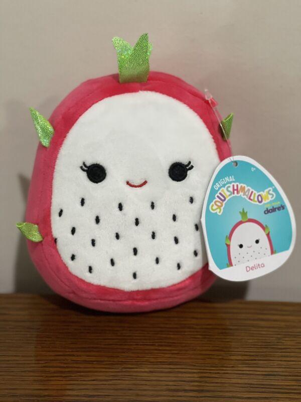 """DELITA New Squishmallow  5"""" Dragon Fruit Squishmallow Plush Kellytoy NWT w/ tags"""