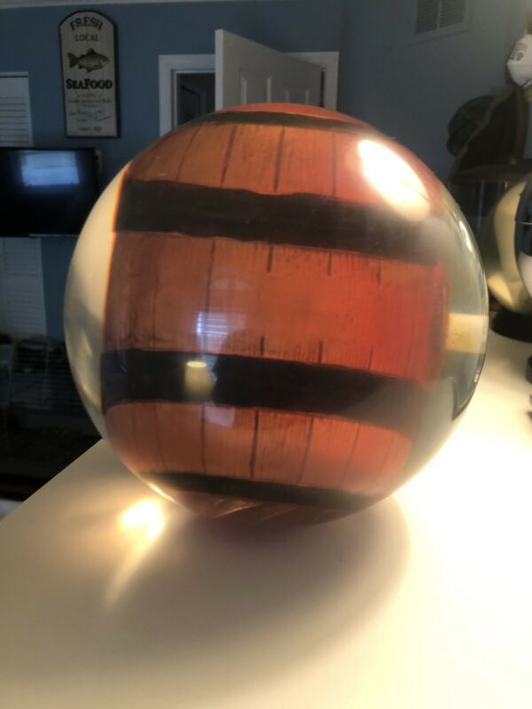 15 lb Barrel Clear Bowling Ball RARE