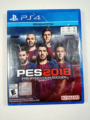 PES 18 Pro Evolution Soccer 2018 Premium Edition (Sony PlayStation 4 PS4, 2017)