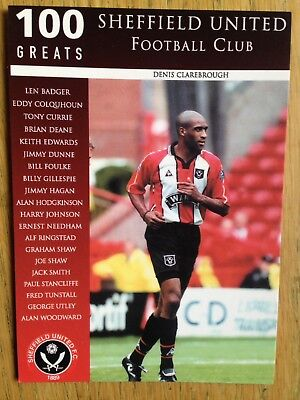 Sheffield United 100 Greats postcard