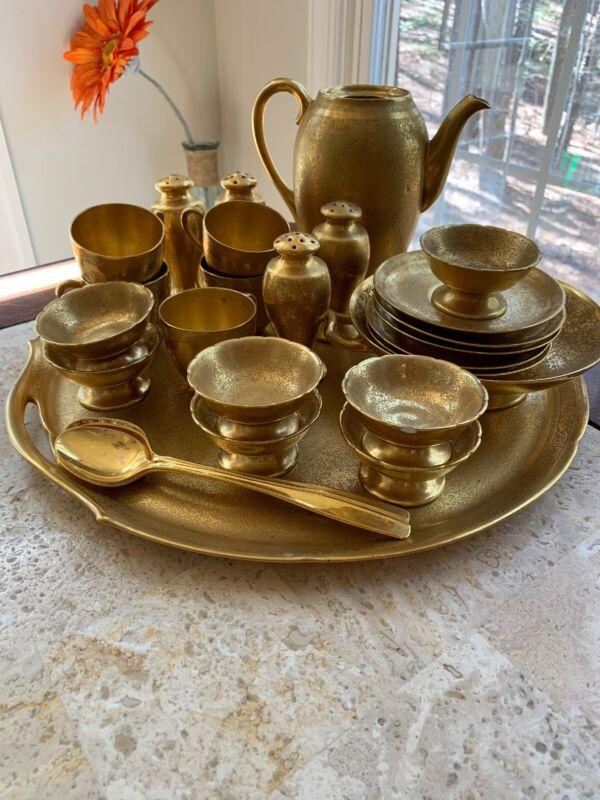 Thomas Antique Etched Gold Bavaria Tableware Set