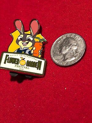 1 Disney Pin  LE Zootopia's Judy Hopps 2017 Flower Garden Festival lot RT