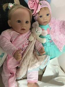 Sold:Reborn baby girl - ADG Doll lifelike vinyl Docklands Melbourne City Preview