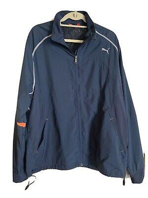 PUMA Golf Mesh Lined Windbreaker Vented Jacket Blue Mens XL