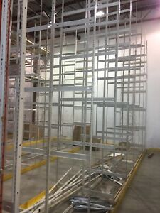 6'.8',12' and 18' high ez rect industrial shelving