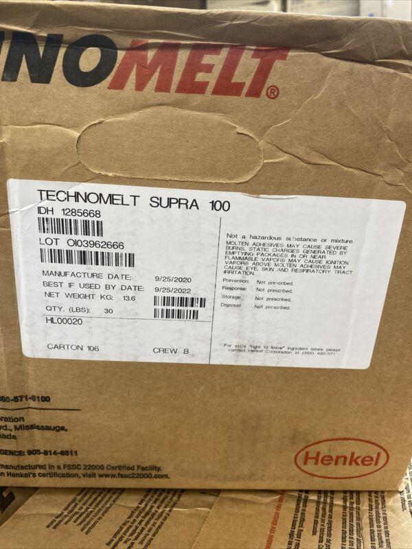 30 Pounds Henkel TECHNOMELT SUPRA 100 Hot Melt Adhesive Glue Pellets