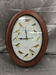 Quartz Bird Clock - Oval Shape bird sounds work Clock does not AS IS