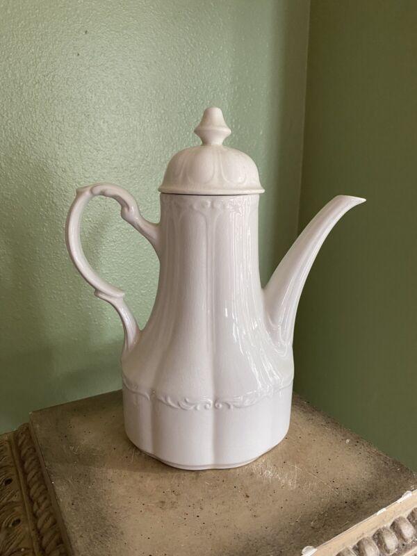 J R Meakin White Ironstone Coffee Tea Pot