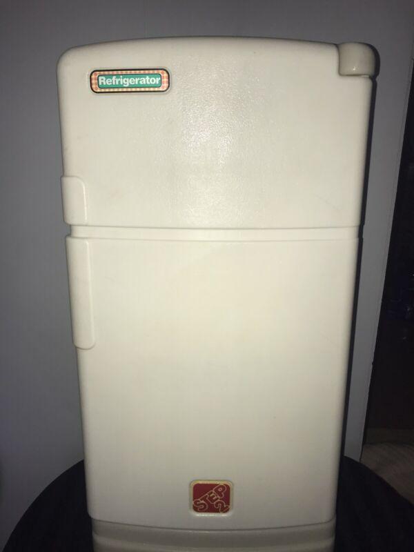 Vintage Step 2 Pretend Play Kitchen Refrigerator Fridge Child Size Toddler READ!