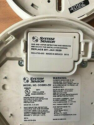 System Sensor Cosmo2w Smoke Detector - Exp. Date 2029