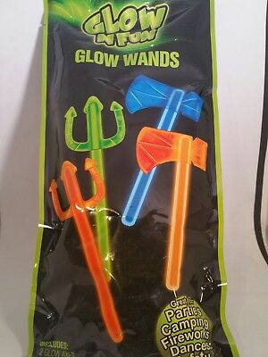 Glow in the Dark Axe Trident Costume Accessory Toy Party Favors Total of 4pcs](Costume Trident)