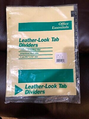 Leather-look Mylar Tab Dividers 12 Month Tabs Letter Blackgold 12set