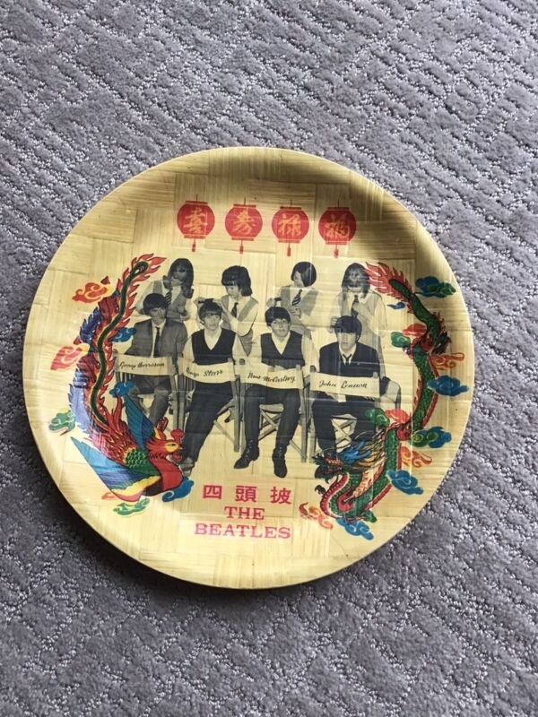 THE BEATLES BAMBOO PLATE