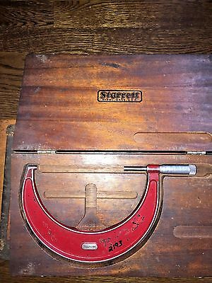 Starrett Outside Micrometer No. 436 5-6 In Wooden Case