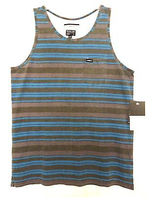 $30 NEW RVCA BOYS YOUTH HAIRY STRIPE TANK SIZES M L XL 100% COTTON  - Hairy Boys