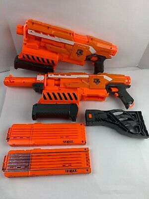 2X NERF N-Strike Elite Demolisher 2 in 1 Blaster w/ 2 Magazines