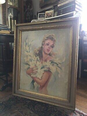 jean Gabriel Domergue Women With Flowers Original And (Gabriel Jean)
