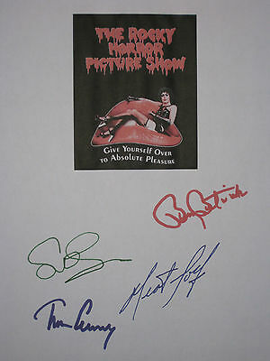 The Rocky Horror Picture Show Signed Script Tim Curry Meat Loaf Sarandon reprint
