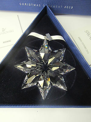 SWAROVSKI Crystal 2013 Large Annual Snowflake Christmas Ornament New in Box