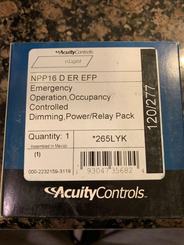 Acuity EM Operation Occupancy Controlled Dimming Power/Relay NPP16 D ER EFP