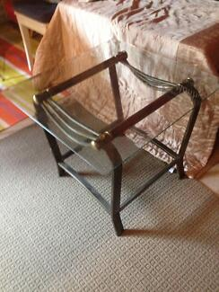 Side Tables - glass top, metal base Maroubra Eastern Suburbs Preview