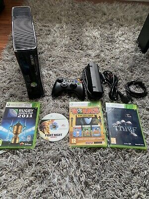 Xbox 360 S Console Bundle with Controller & Games