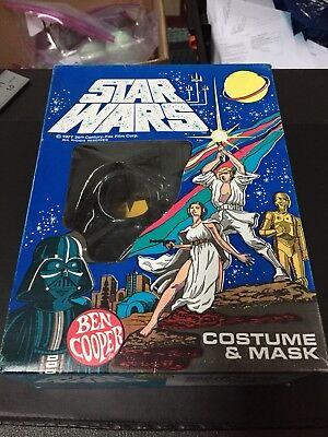 1977 Star Wars Darth Vader Costume and Mask Size Small (4-6) - 1977 Halloween Costumes