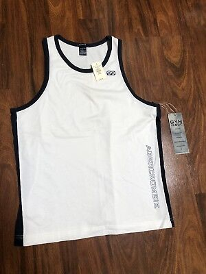Abercrombie Fitch men's muscle tank top Gym Issue Active Bruce Weber Rare New M