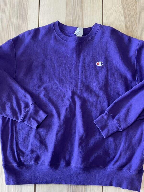 Vintage 90s Champion Purple Reverse Weave Crewneck Sweater