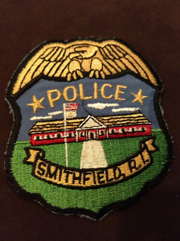 Vintage Smithfield Police Department Rhode Island Patch - 1980