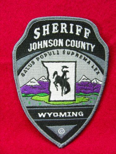 "713 Wyoming JOHNSON COUNTY SHERIFF Patch - ""Salus Poluli Suprema Lex"""