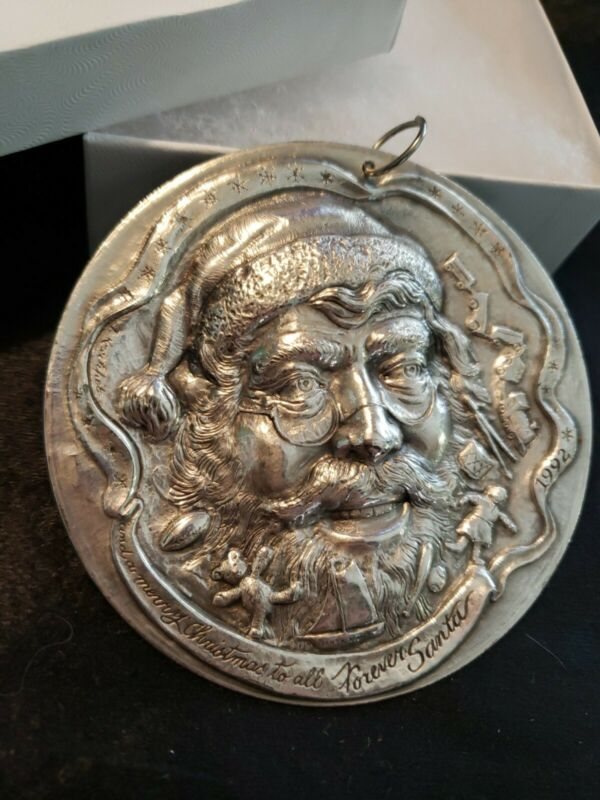 "Sterling silver Christmas Ornament ""Forever Santa"" Sculpture Workshop"