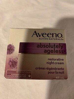 Aveeno active Naturals absolutely ageless restorative night cream. 1.7 Oz.