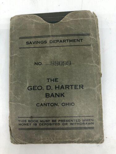 Vintage 1940s Geo D Harter Bank Canton, Ohio Savings Book w/ Envelope
