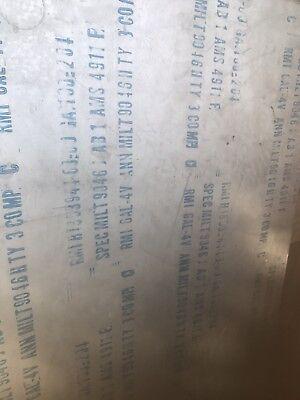 Titanium Sheet 6al-4v .025 X 10 X 18 Grade 5 Ams 4911 Rmi