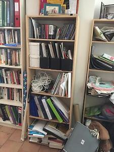 Pair of medium sized natural coloured mdf bookshelves Chermside Brisbane North East Preview