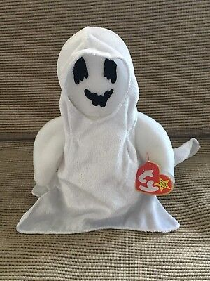 New Original Ty Beanie Baby Sheets Halloween Ghost Date Of Birth 10/31/99](Date Of Halloween)