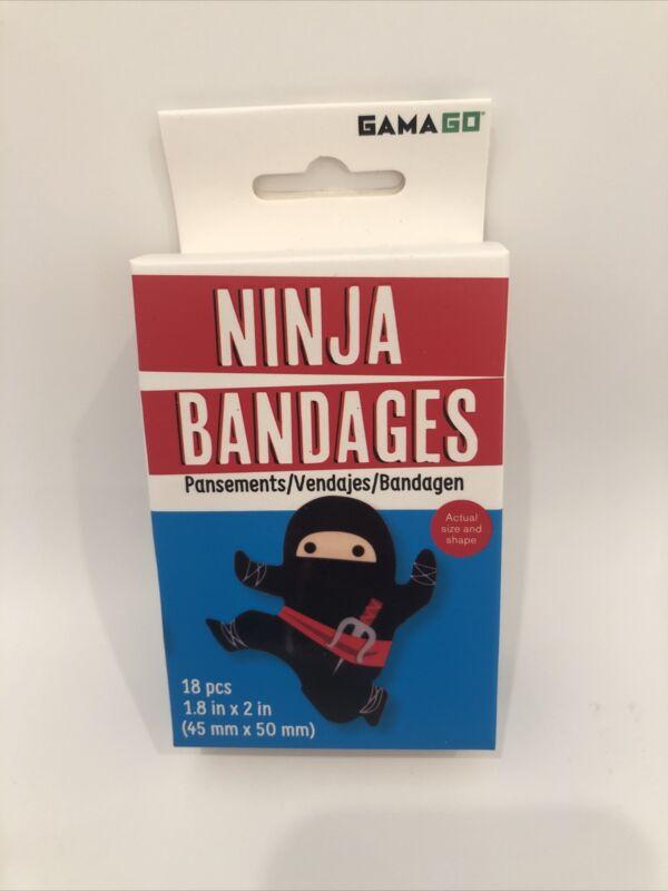 GamaGo Ninja Bandages Latex Free Stickers Kids A22