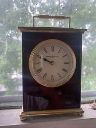 Howard Miller 613-528 Rosewood Bracket Table Quartz Clock— Estate Sale Find!