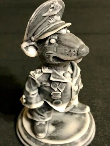 Rat Nazi military Warlord army Colonel marble chips Figurine Souvenirs Russia