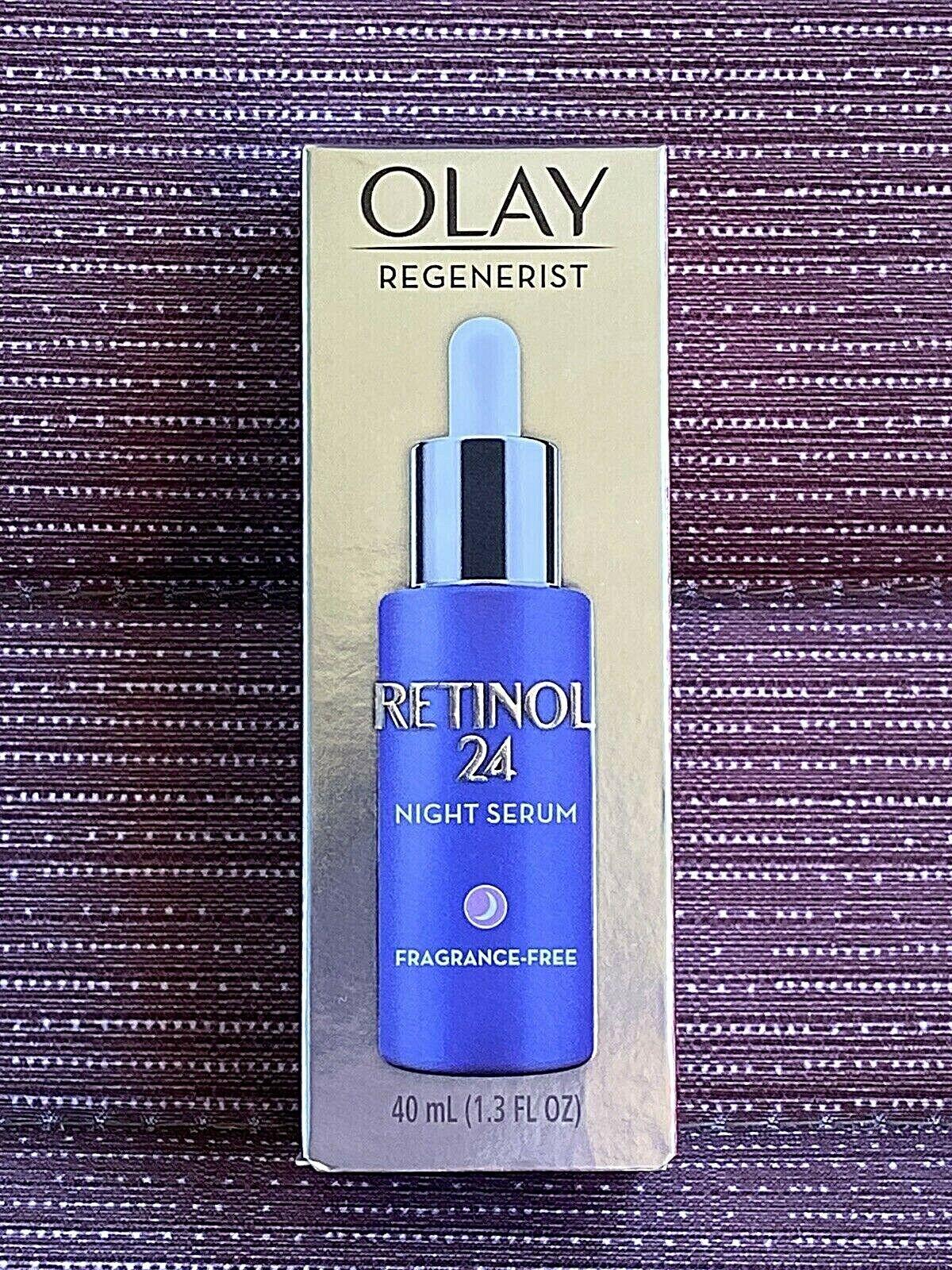 Olay Regenerist Retinol 24 Night Facial Serum 1.3oz SEALED B