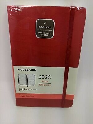 Moleskine Classic Agenda Daily Diary Planner 12 month 2020, Soft, Large Red -