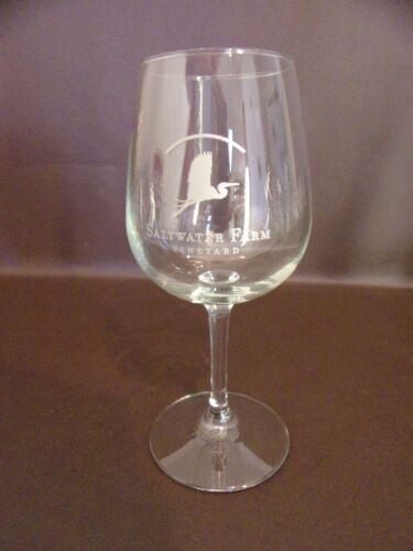 Saltwater Farm Vineyard Wine Glass