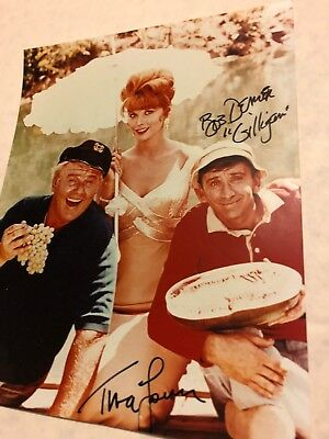 GILLIGAN'S ISLAND BOB DENVER TINA LOUISE BOTH SIGNED COLOR PHOTO w SKIPPER